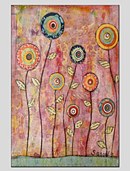 Stretched Canvas Oil Painting Art Flower Style Children Painting 60*90CM