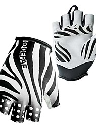 3MM Silicone Gel Zebra Half Finger Gloves for Cycling Bicycle Downhill Motocross MTB