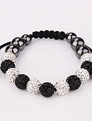 Strand Beads Bracelets Jewelry Bracelets For Women charm Bracelets Micro Pave CZ Disco Ball Crystal Beads (11pic) b185