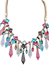 MPL The new fashion in Europe and America all-match exaggerated popular Crystal Pendant Necklace