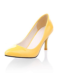 Women's Rubber Heel Pointed ToeClosed Toe Heels Office CareerDress / CasualBlack Yellow Green Pink Red /