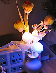 Valentine'S Day Gift Cartoon Light-Operated flower flower vase Table Lamp Light Led