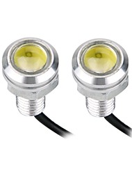 2pcs LED Car External High Power Eagle Eye Rear Back Up Reverse Tail White Light Lamp 1.5W 12V