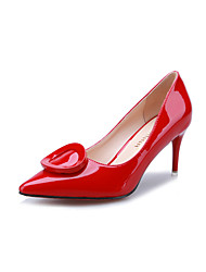 Women's Shoes Stiletto Heel Heels / Pointed Toe / Closed Toe Heels Dress / Casual Black / Green / Red / Silver / Orange