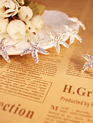 Women's / Flower Girl's Rhinestone / Alloy Headpiece - Wedding / Special Occasion Starfish Hair Pin 1 Piece