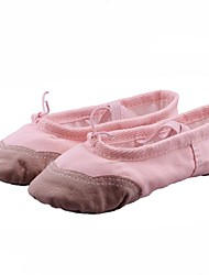 Non Customizable Kids' Dance Shoes Canvas Canvas Ballet Flats Flat Heel Beginner / Performance / Practice Multi-color