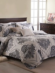 Simple Opulence Duvet Cover Set Microfiber luxury Printed Blue White Include Quilt Cover Pillow Cases Queen King