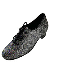 Non Customizable Women's Dance Shoes Fabric / Sparkling Glitter Fabric / Sparkling Glitter Modern Sneakers Cuban HeelPractice / Beginner