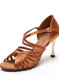 Non Customizable Women's Dance Shoes Latin / Jazz Leather / Patent Leather Stiletto Heel Other