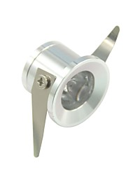 1W 100LM 2800-3000K/6000-6500K Warm White/Cool White Light LED Cabinet Lamp-Silver(AC 85-240V)