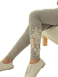 Femme Slim Jeans Pantalon,Mignon Mosaïque Taille Normale Polyester Micro-élastique Sangle Automne Hiver