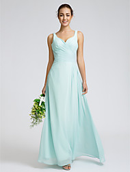 Lanting Bride® Ankle-length Georgette Bridesmaid Dress Sheath / Column Sweetheart with Criss Cross