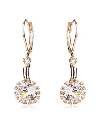 Earrings Gold Plated Women Wedding Crystal CZ Diamond For Teen Girls Bridal Party Holiday Fashion Accessories