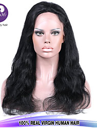 Top Quality 8-28inch Body Wave Peruvian Virgin Human Hair Natural Color Full Lace Wig For Women