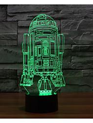 visuelle 3D-Kriegsschiff Stimmung Atmosphäre LED Dekoration usb Tischlampe bunte Geschenknachtlicht