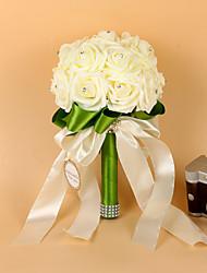 Bouquets ( Vert , Satin élastique / Mousse ) Roses