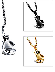 Necklace Pendant Necklaces Jewelry Party / Daily / Casual / Sports Fashion Titanium Steel / Gold Plated Gold / Black / White 1set Gift