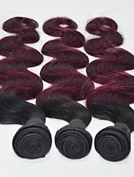 Menschenhaar spinnt Malaysisches Haar Große Wellen 6 Monate 3 Stück Haar webt
