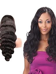 Onda do corpo humano 8-24inch peruca dianteira do laço do cabelo virgem para as mulheres negras