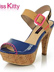 KISSCAT Feminino Couro Envernizado Sandálias - S33305-03LD