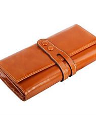 Unisex Cowhide Tri-fold Clutch / Wallet / Card & ID Holder / Mobile Phone Bag / Checkbook Wallet