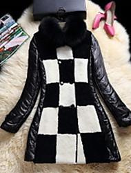 Women Fox Fur / Lamb Fur / Lambskin Top , Belt Not Included