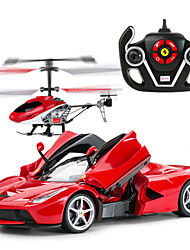 RASTAR 1:14 Brush Electric On-Road RC Car RC Helicopter Toys 2 in 1 Packages