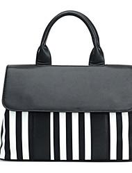 Women PU Flap Shoulder Bag / Tote - Black