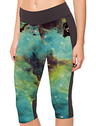 Running 3/4 Tights / Leggings / Bottoms Unisex Compression Polyester Yoga / Fitness Sports Stretchy Tight Performance / Leisure Sports