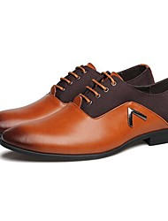 Men's Shoes Libo New Fashion Hot Sale Office & Career / Casual Leather Comfort Oxfords Black / Brown / Orange