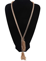Fashion Simple Magnetic Hollow Tassel Necklace Sweater Chain