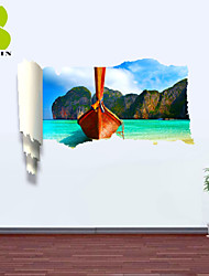 "Romance / Paisagem / Formas Wall Stickers Autocolantes 3D para Parede , PVCL:85cmX127cmX0.3cm(33.5""X50.0""X0.1"");M:"