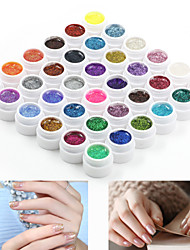 36pcs mergulhar off mixs brilho cor de cola fototerapia gel uv unhas cor qq barbie unha (8 ml)