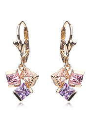 Jewelry Crystal Earrings For Girls Gold Plated Women Wedding CZ Diamond Bridal Holiday Fashion Earring Accessories