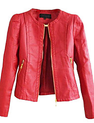 Women's Motorcycle PU Leather Jacket More Colors