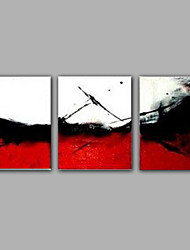 3-Sets Red and White Color Handmade Painted Pictures