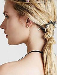 Women Fashion Retro Metal Arrow Stars Pattern Dish Hair Hairpin Hair Accessories Jewelry 1pc