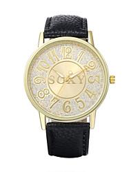 Men's Business Fashion Individual Original Round Dial Leather Band Quartz Analog Wrist Watch(Assorted Color)