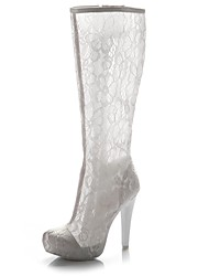 Women's Wedding Shoes Heels / Round Toe Heels Wedding / Dress White