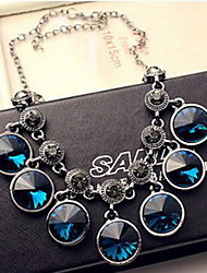 New Arrival Fashion Jewelry Luxury Geometric Gem Necklace