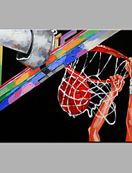 Single Modern Abstract Pure Hand Draw Ready To Hang Decorative To Play Basketball Oil Painting