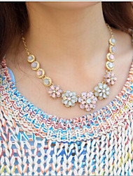 New Arrival Fashion Jewelry Fresh Opal Flower Necklace