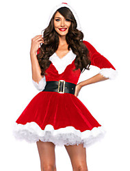 Santa Baby Crystal Velvet Holiday Dress