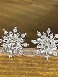 New Arrival Fashional Rhinestone Flower Earrings