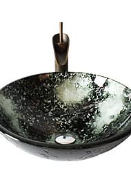 Antiek - Badkamer Wastafel Set - Gehard Glas - Gehard Glas