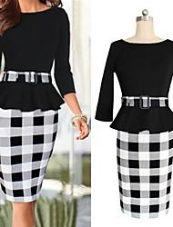 Women's Vintage Casual/Party/Work Knee-length Dress (Cotton Blends)