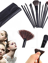 12PCS Makeup Brushes Set Cosmetics Synthetic Kabuki Make up Brush Blending Blush Eyeliner Face Powder Makeup Brush Kit