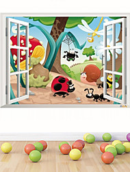 3D Wall Stickers Wall Decals Style Insects Family Waterproof Removable PVC Wall Stickers