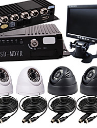 4CH card 4 Road Car Video Camera Display A Full Set OF Hardcover Video Recorder Bus Special Vehicle Management