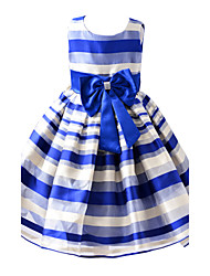 Girl's Blue / Pink Dress , Stripes / Dresswear Cotton / Polyester All Seasons